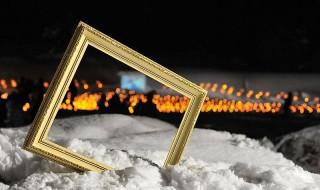雪の中のしろうさぎ