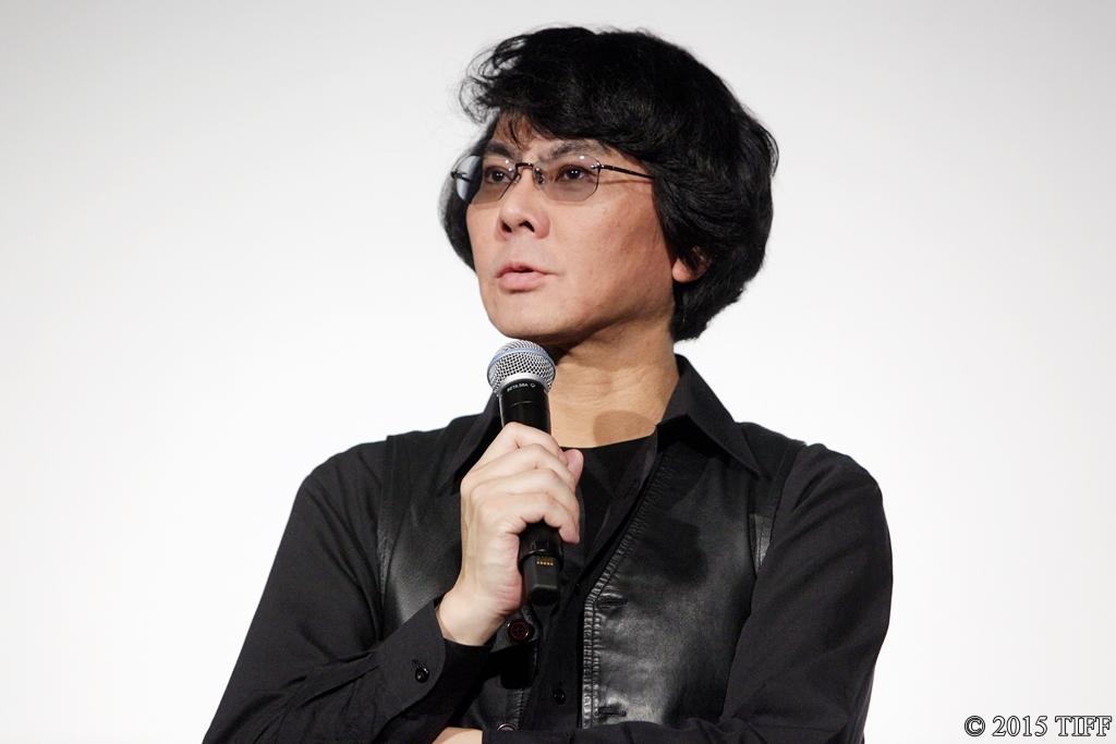 【写真】第28回 東京国際映画祭(TIFF) 映画『さようなら』舞台挨拶 (石黒浩教授)