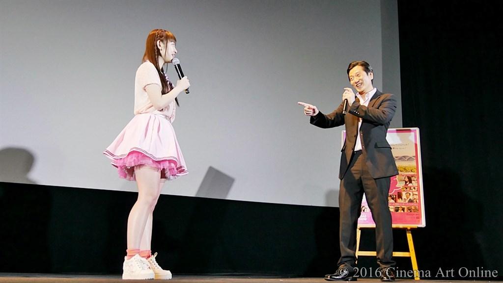 【写真】映画『みんな好いとうと♪』公開初日舞台挨拶 新木さくら(LinQ)、津田寛治