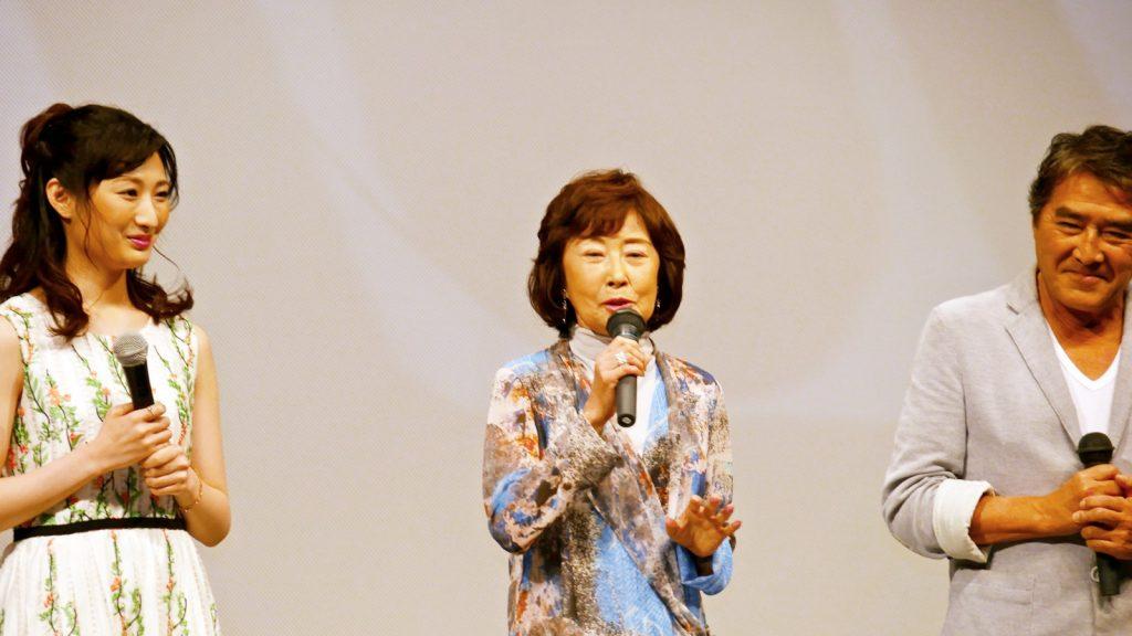 【写真】映画『海すずめ』完成披露プレミア上映会舞台挨拶 (吉行和子)