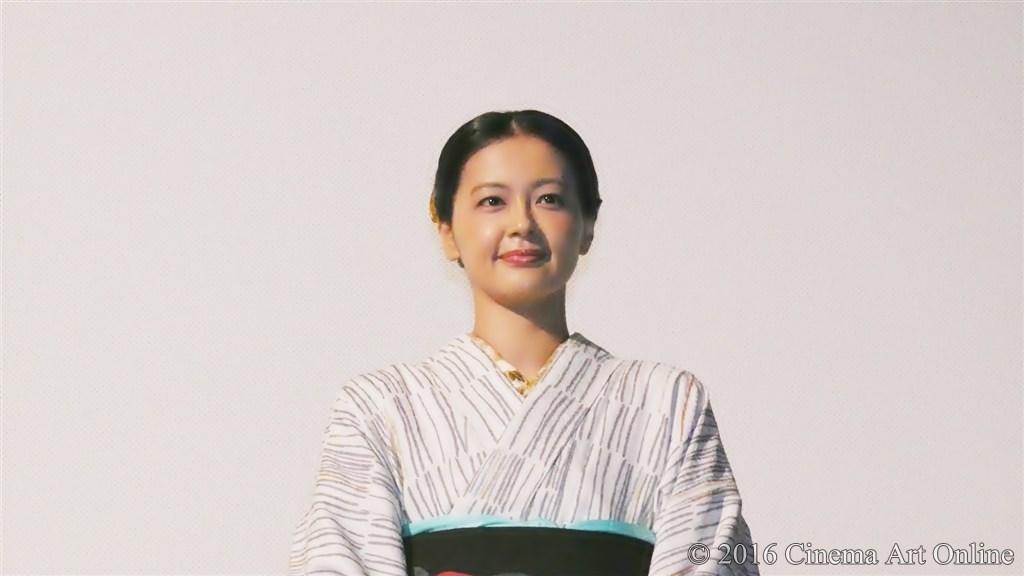 【写真】映画『夢二~愛のとばしり』公開初日舞台挨拶 (黒谷友香)