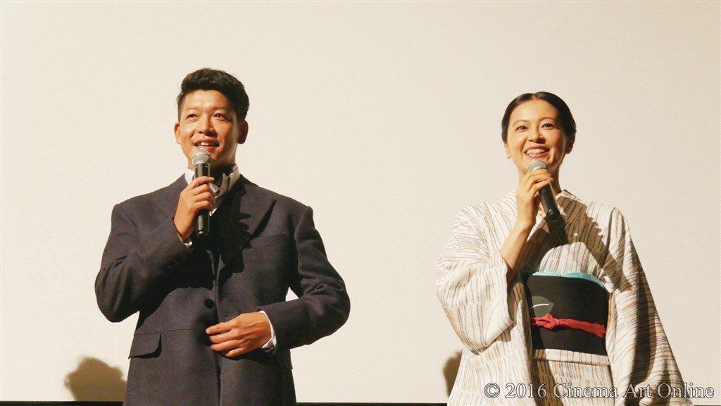 【写真】映画『夢二~愛のとばしり』公開初日舞台挨拶 (駿河太郎、黒谷友香)