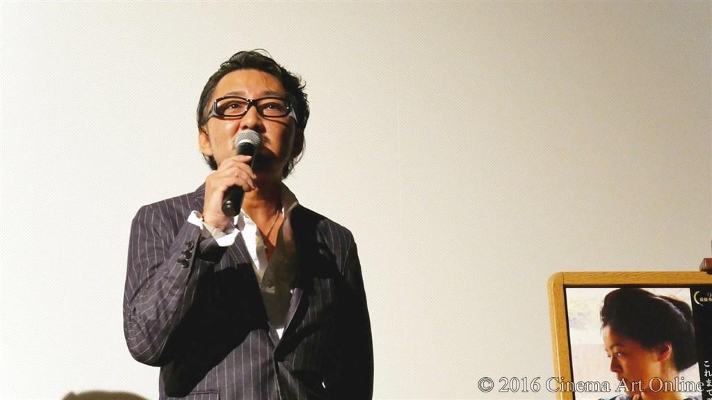 【写真】映画『夢二~愛のとばしり』公開初日舞台挨拶 (宮野ケイジ監督)