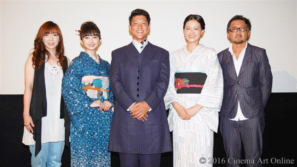 映画 「夢二~愛のとばしり」 公開初日 舞台挨拶