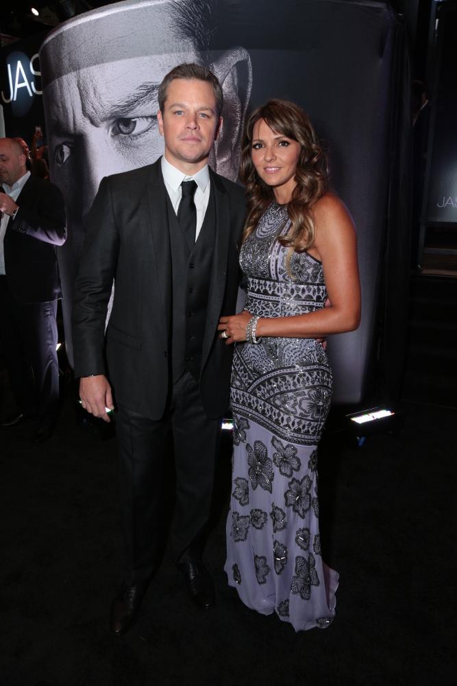 映画 「ジェイソン・ボーン」 ラスベガスプレミア Matt Damon & Luciana Barroso