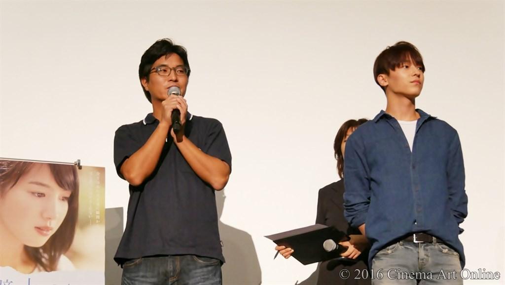 【写真】映画『絶壁の上のトランペット』完成披露上映会舞台挨拶 (ハン・サンヒ監督&L.Joe)