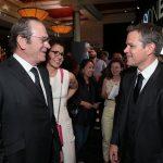 【写真】映画 『ジェイソン・ボーン』(原題: JASON BOURNE) ラスベガスプレミア (Tommy Lee Jones & Matt Damon)