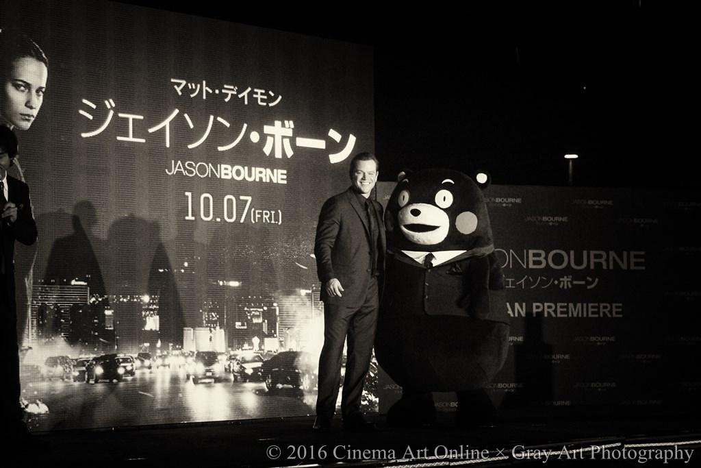 【写真】映画 『ジェイソン・ボーン』(原題: JASON BOURNE) ジャパンプレミア (マットデイモン&くまモン)