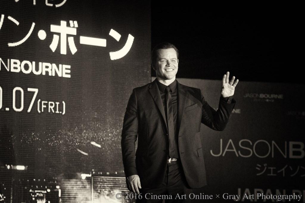 【写真】映画 『ジェイソン・ボーン』(原題: JASON BOURNE) ジャパンプレミア (マットデイモン Matt Damon)