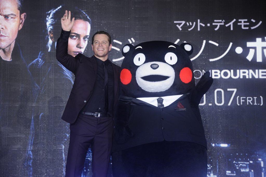 映画 ジェイソン・ボーン マットデイモン Matt Damon くまモン