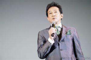 映画 「絶壁の上のトランペット」 公開初日舞台挨拶 辰巳琢郎