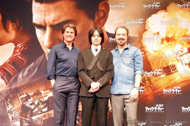 映画 「ジャック・リーチャー NEVER GO BACK」 来日記者会見 トムクルーズ エドワード・ズウィック監督 池松壮亮