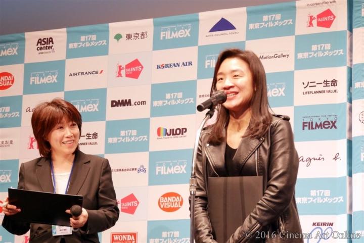 第17回 東京フィルメックス/TOKYO FILMeX 2016 授賞式 ユン・ガウン