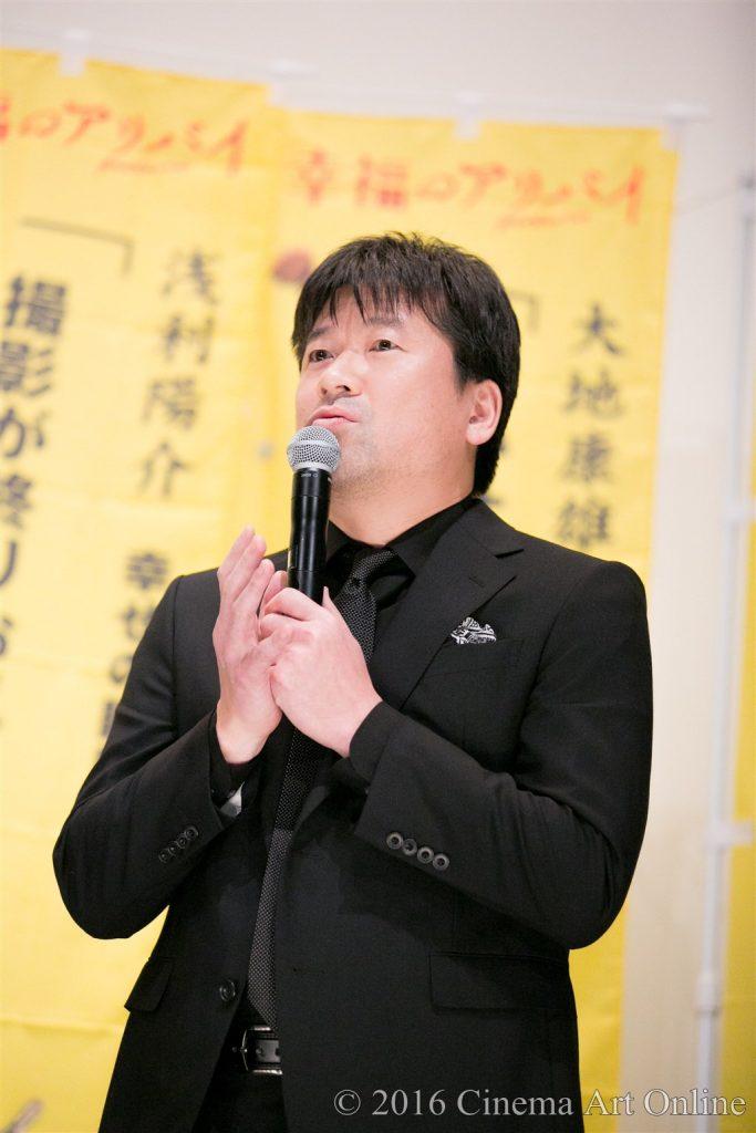 映画『幸福のアリバイ~Picture~』 公開初日舞台挨拶 (佐藤仁郎)