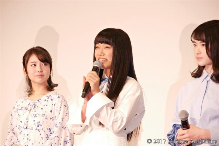劇場版 「咲-Saki-」 完成披露上映会 舞台挨拶 廣田あいか (私立恵比寿中学)