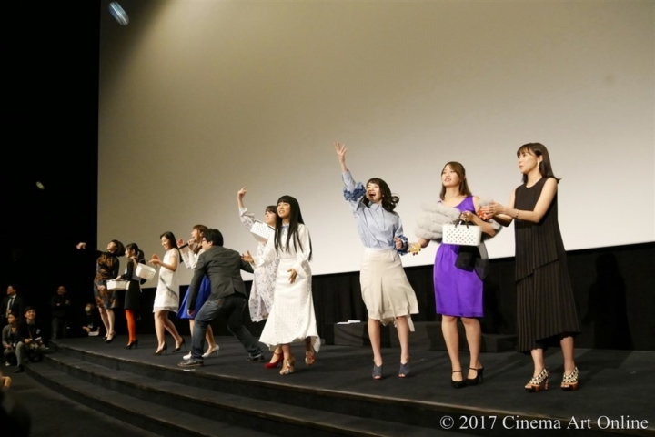 劇場版 「咲-Saki-」 完成披露上映会 舞台挨拶 ヒット祈願パイ(牌)投げ
