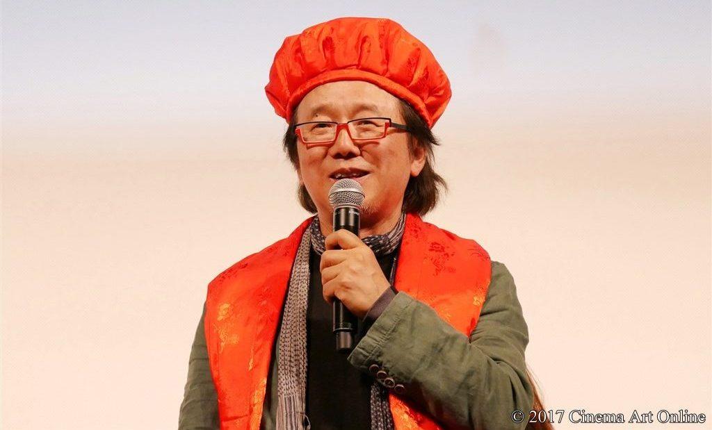 映画「心に吹く風」完成披露試写会披露イベント ユン・ソクホ監督 ちゃんちゃんこ姿