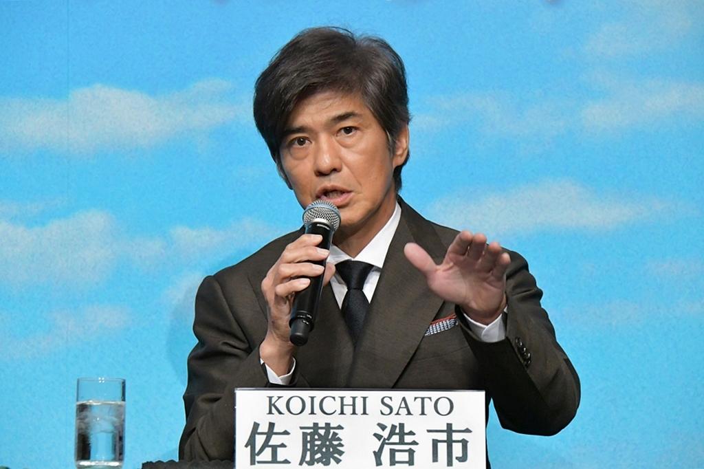 【写真】映画『Fukushima 50(フクシマフィフティ)』クランクアップ記者会見 (佐藤浩市)