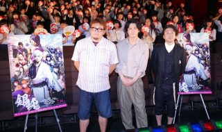 映画「銀魂」公開直前イベント フォトセッション (福田雄一監督、小栗旬、ムロツヨシ)