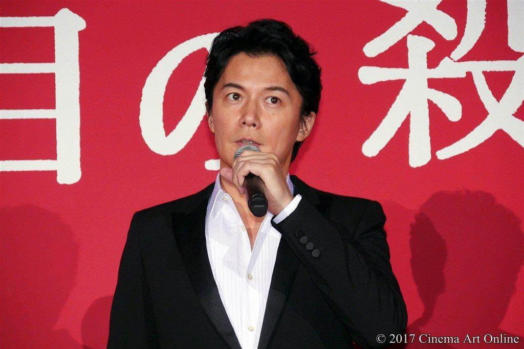 映画「三度目の殺人」完成披露試写会 舞台挨拶 福山雅治