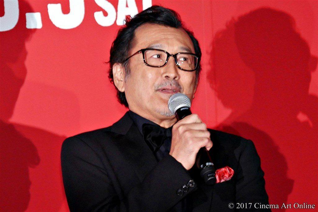 映画「三度目の殺人」完成披露試写会 舞台挨拶 吉田鋼太郎