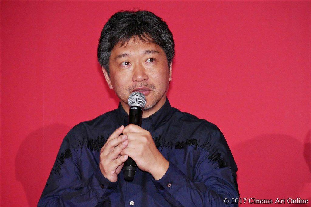 映画「三度目の殺人」完成披露試写会 舞台挨拶 是枝監督