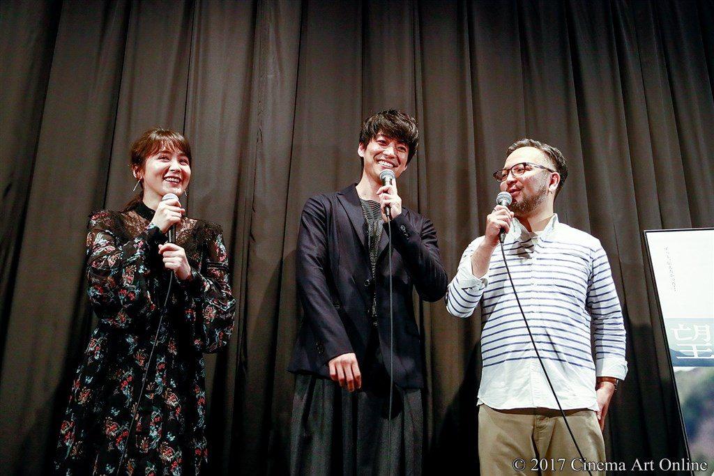 【写真】映画「望郷」完成披露上映会 舞台挨拶 貫地谷しほり、大東駿介、菊地健雄監督