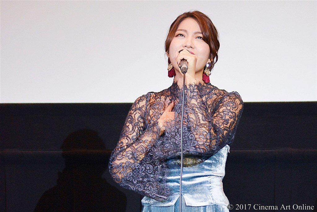 【写真】映画『ユリゴコロ』公開初日舞台挨拶 Rihwa 主題歌生歌披露