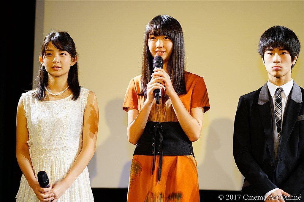 映画『レミングスの夏』公開初日舞台挨拶 桃果、瑚々、前田旺志郎