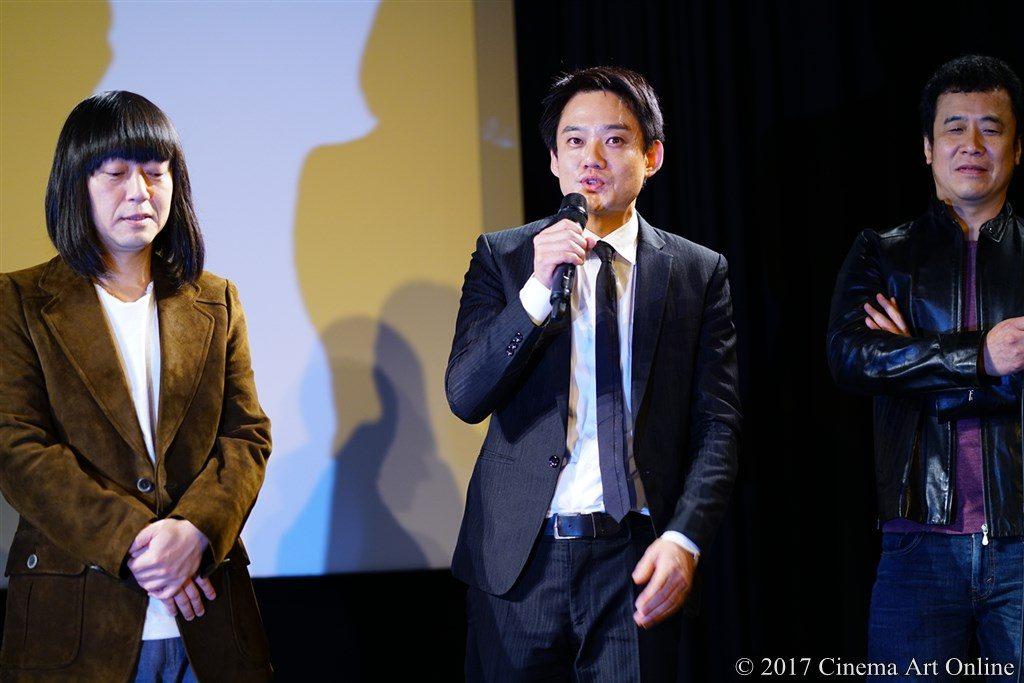 映画『レミングスの夏』公開初日舞台挨拶 スネオヘアー、椋田涼、五藤利弘監督