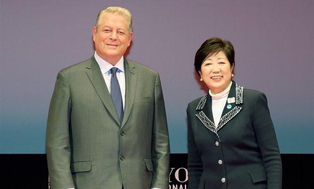 【写真】アル・ゴア(米元副大統領)& ⼩池百合⼦東京都知事