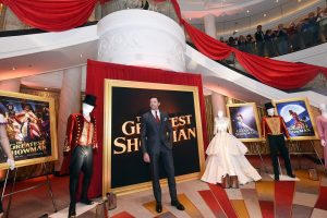 """Hugh Jackman attends as Cunard Hosts World Premiere of 20 th Century Fox's """"The Greatest Showman"""" on board Greatest Ocean Liner, Flagship Queen Mary 2, on Friday, Dec. 8, 2017, in Brooklyn, N.Y. This is the first ever major motion picture premier to take place on board a passenger ship. (Photo by Diane Bondareff/Invision for Cunard/AP Images)"""