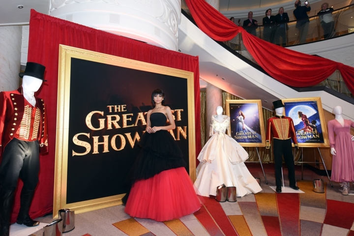 "Zendaya attends as Cunard Hosts World Premiere of 20 th Century Fox's ""The Greatest Showman"" on board Greatest Ocean Liner, Flagship Queen Mary 2, on Friday, Dec. 8, 2017, in Brooklyn, N.Y. This is the first ever major motion picture premier to take place on board a passenger ship. (Photo by Diane Bondareff/Invision for Cunard/AP Images)"