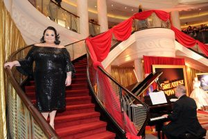 """Keala Settle attends as Cunard Hosts the World Premiere of 20th Century Fox's """"The Greatest Showman"""" on board Queen Mary 2 on Friday, Dec. 8, 2017, in Brooklyn, N.Y. This is the first ever major motion picture premier to take place on board a passenger ship. (Photo by Diane Bondareff/Invision for Cunard/AP Images)"""