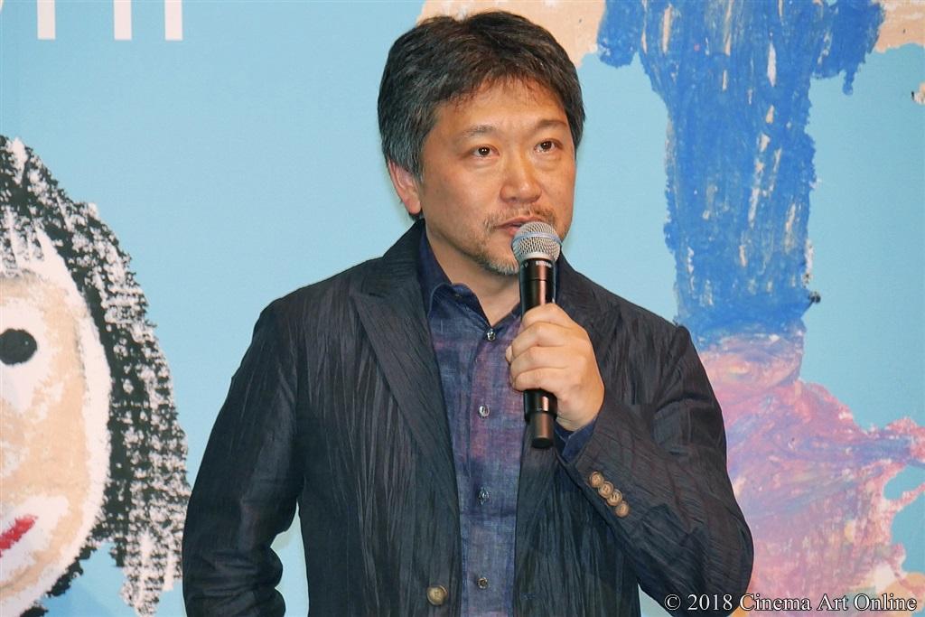 【写真】映画『万引き家族』完成披露試写会舞台挨拶 是枝裕和監督