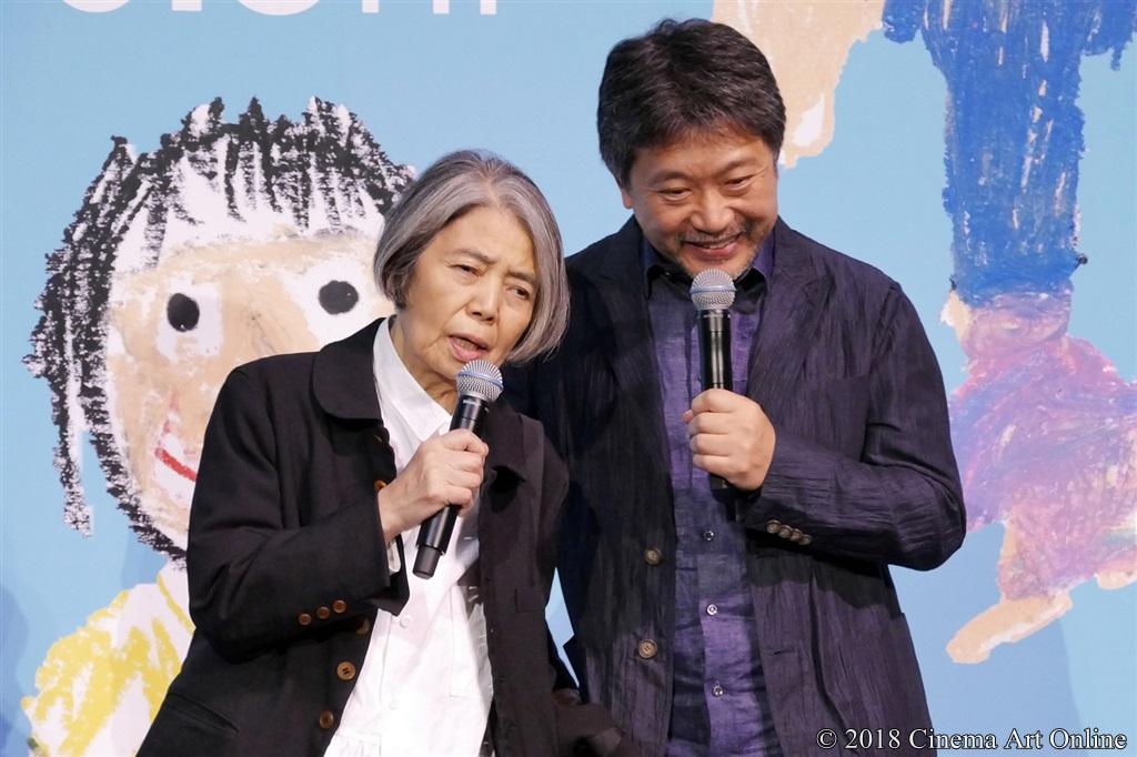 【写真】映画『万引き家族』完成披露試写会舞台挨拶 樹木希林、是枝裕和監督