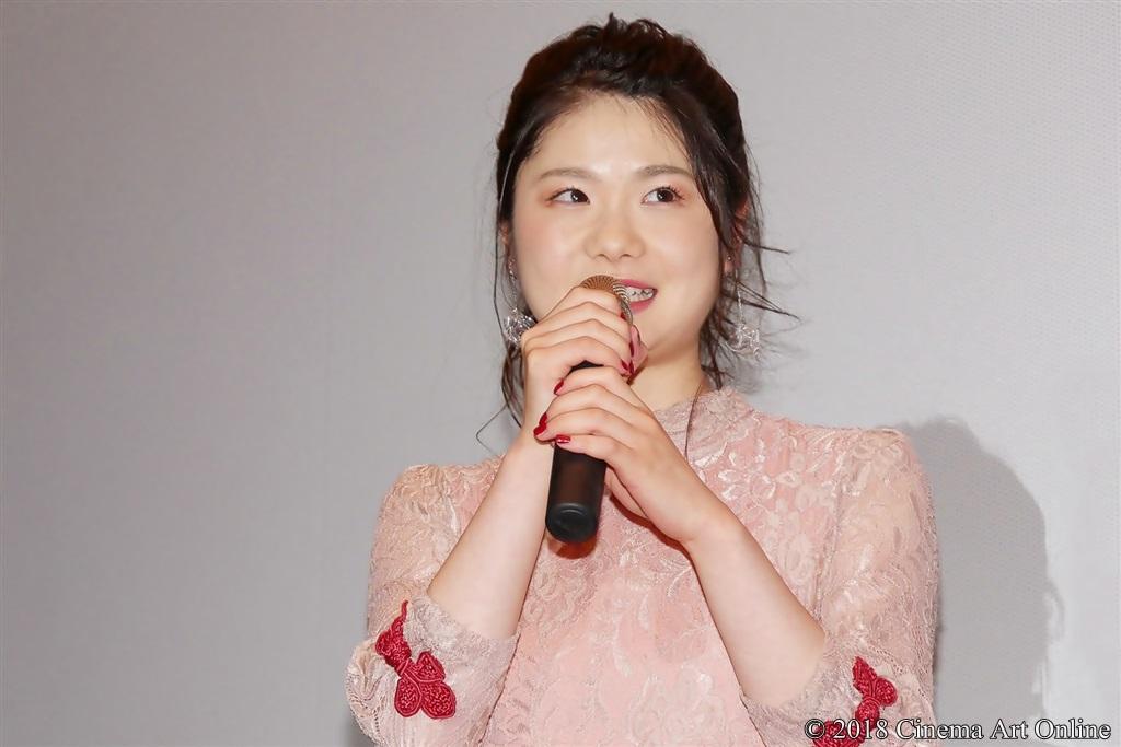 【写真】映画『兄友』公開初日舞台挨拶 (小野花梨)