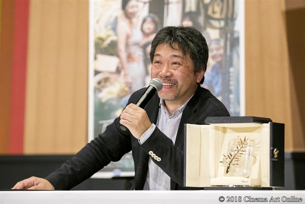 【写真】映画『万引き家族』是枝裕和監督凱旋帰国記者会見