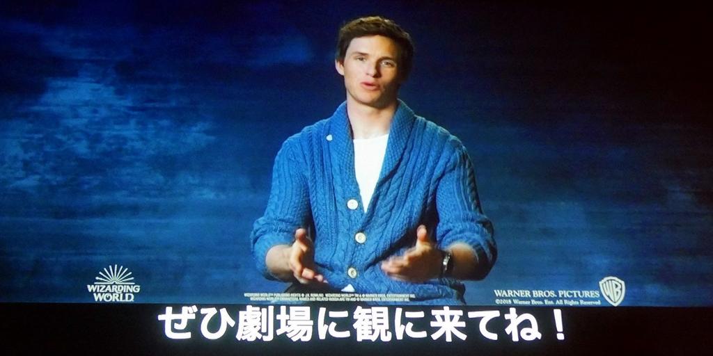 【写真】映画『ファンタビ』最新作公開記念&「ハリー・ポッター」魔法ワールド20周年セレブレーションイベント (エディ・レッドメイン メッセージ映像)