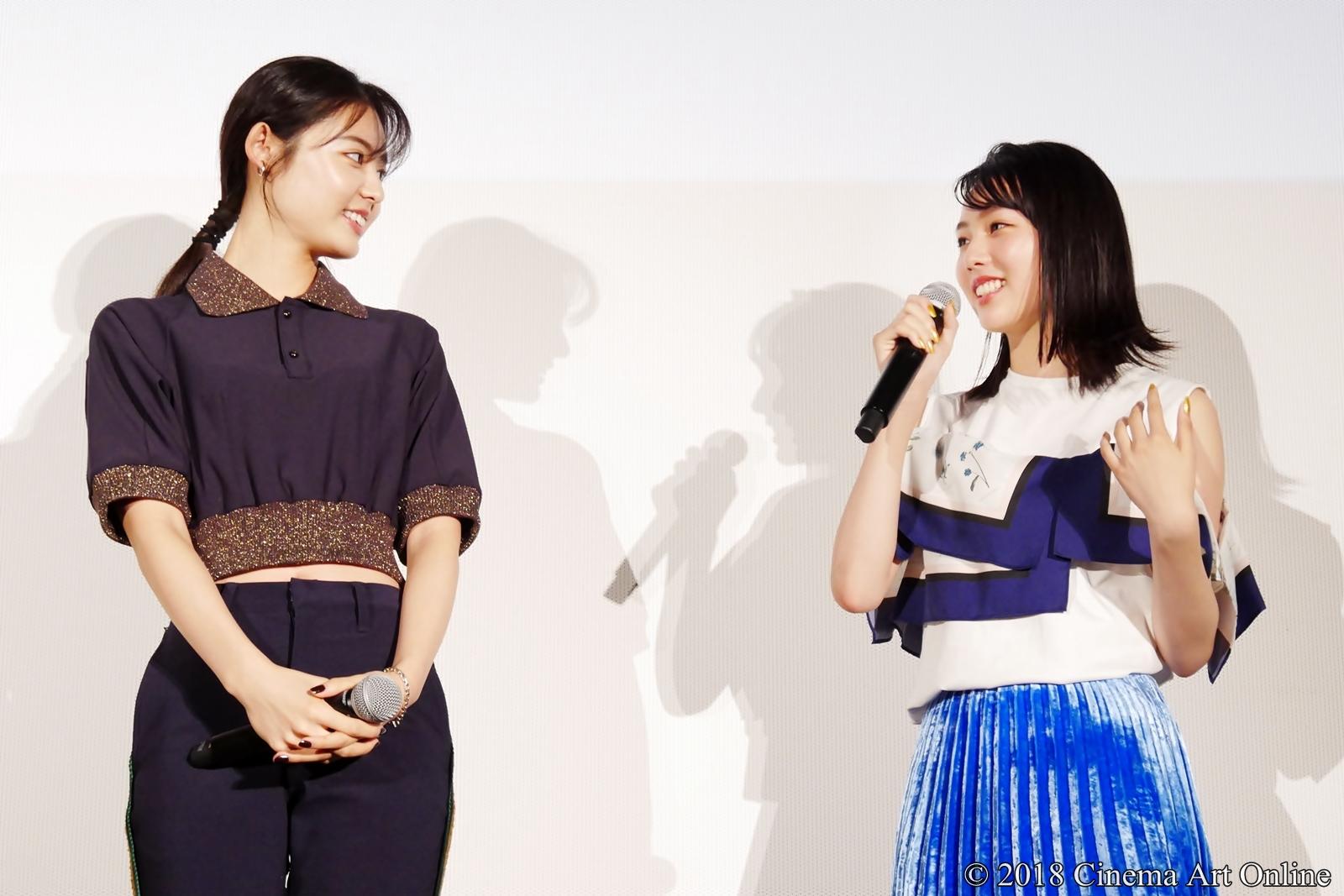 【写真】映画『青夏 きみに恋した30日』女子会舞台挨拶(古畑星夏、秋田汐梨)