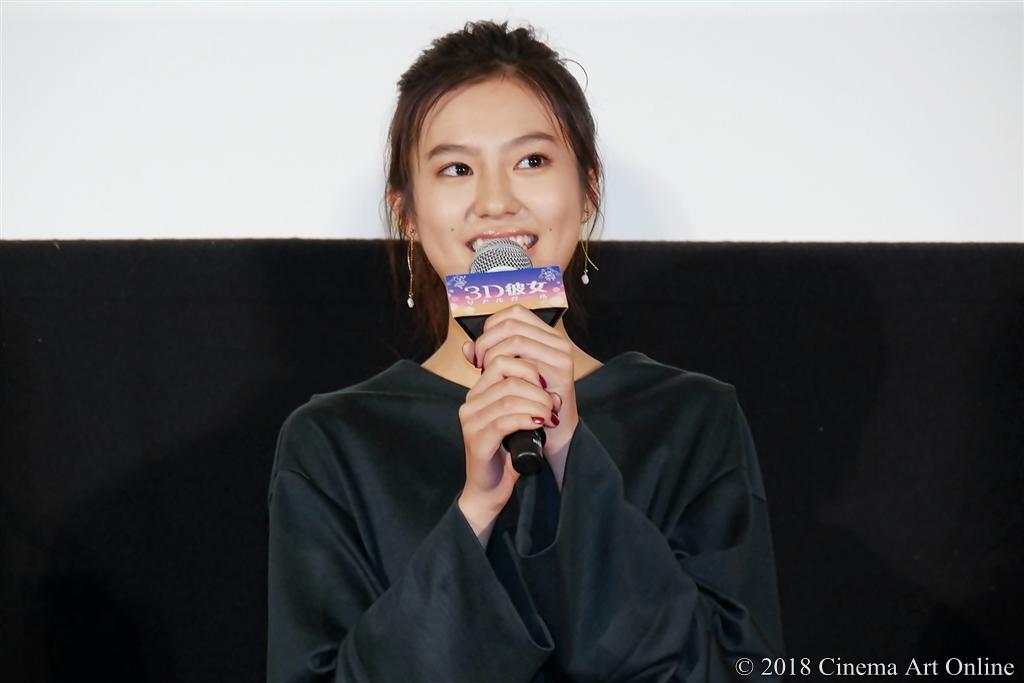 【写真】映画『3D彼女 リアルガール』公開記念舞台挨拶 (恒松祐里)