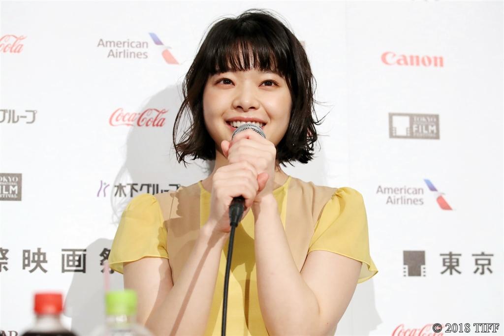 【写真】第31回東京国際映画祭(TIFF) コンペティション部門『愛がなんだ』記者会見 (岸井ゆきの)