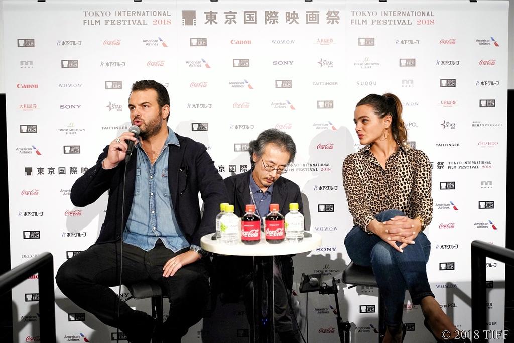 【写真】第31回東京国際映画祭(TIFF) コンペティション部門『堕ちた希望』記者会見 (エドアルド・デ・アンジェリス監督、ピーナ・トゥルコ)