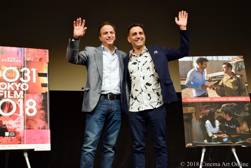 【写真】第31回東京国際映画祭(TIFF) コンペティション部門『テルアビブ・オン・ファイア』Q&A (サメフ・ゾアビ監督、ヤニブ・ビトン)