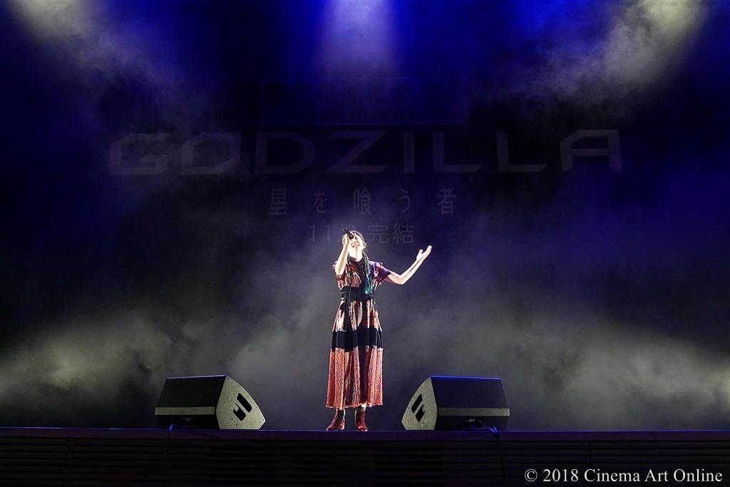【写真】映画『GODZILLA 星を喰う者』ワールド・プレミア舞台挨拶 (XAI 主題歌「live and die」披露)
