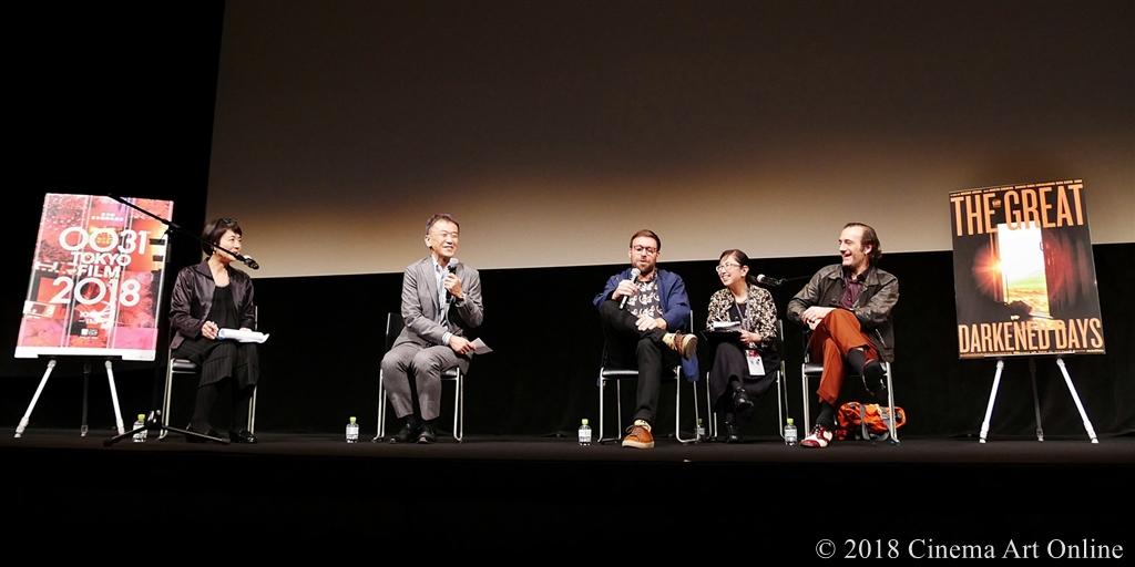 【写真】第31回東京国際映画祭(TIFF) コンペティション部門『大いなる闇の日々』Q&A (マキシム・ジルー監督、マルタン・デュプレイユ)