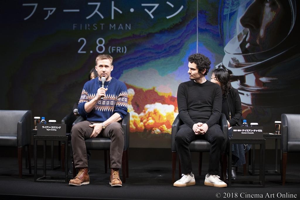 【写真】映画『ファースト・マン』来日記念イベント (ライアン・ゴズリング、デイミアン・チャゼル監督)