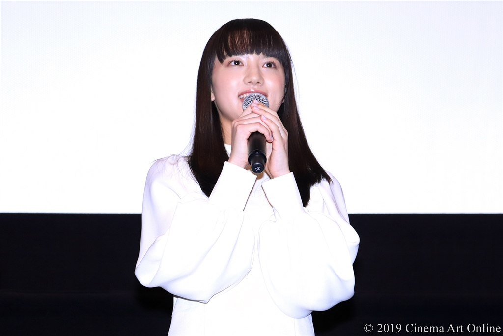 【写真】映画『愛唄 ―約束のナクヒト―』公開記念舞台挨拶 (清原果耶)
