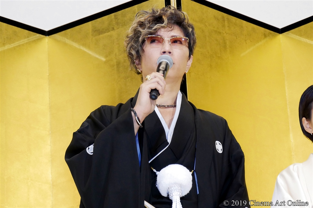 【写真】映画『翔んで埼玉』公開初日舞台挨拶 (GACKT)