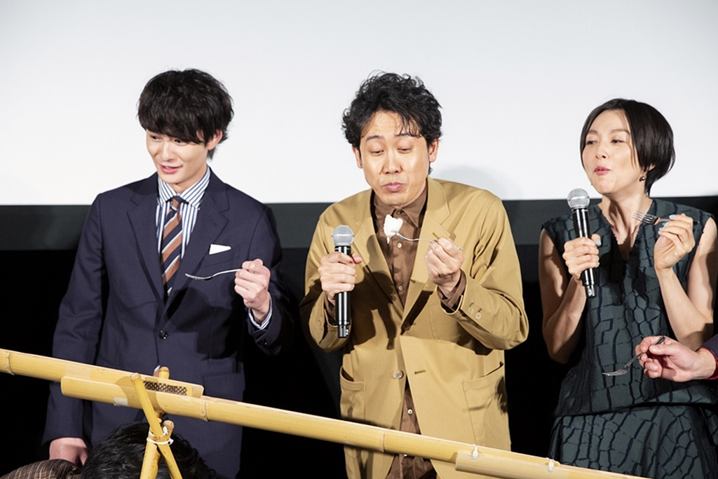 【写真】映画『そらのレストラン』公開初日舞台挨拶 (岡田将生、大泉洋、本上まなみ)